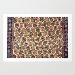 Kashkuli  Antique Fars Persian Tribal Rug Print Art Print