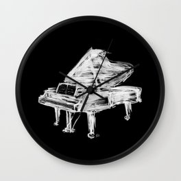 Black Piano Wall Clock