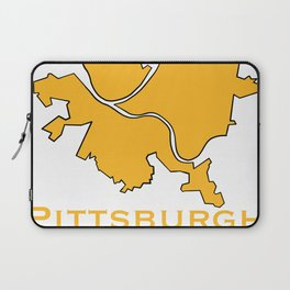 Pittsburgh Map Laptop Sleeve
