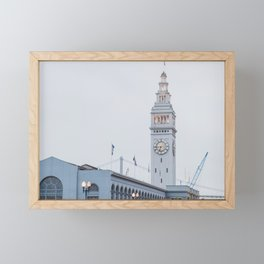At the Ferry Building in San Francisco Framed Mini Art Print