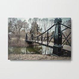Victorian Bridge in Winter Metal Print