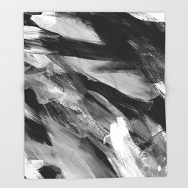 Abstract Artwork Greyscale #1 Throw Blanket