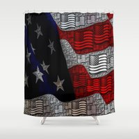 american Shower Curtains featuring American by Tracy66