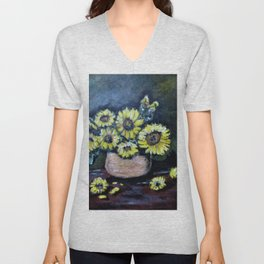Sunflower Still Lie Unisex V-Neck