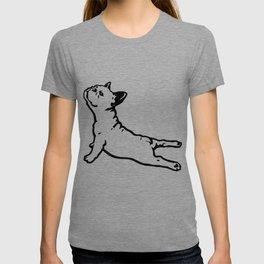 FRENCH BULL DOG YOGA NAMASTE product FUNNY GYM design DOGS T-shirt