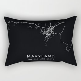 Maryland State Road Map Rectangular Pillow