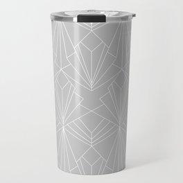 Art Deco on Grey Travel Mug