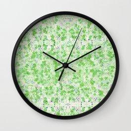 Snowflower Spring Green Wall Clock
