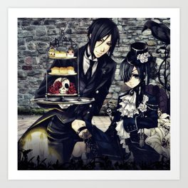 dress up and snacks with ciel and bassy Art Print
