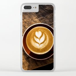 That Perfect Cup of Cappuccino Coffee Clear iPhone Case