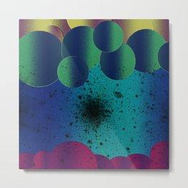 Bubbles & Space Metal Print