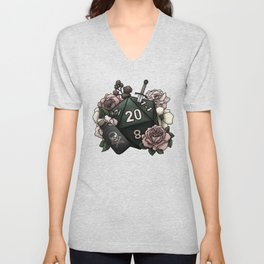 Rogue Class D20 - Tabletop Gaming Dice Unisex V-Neck