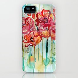 River Poppies iPhone Case