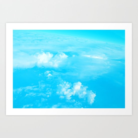 Aerial Turquoise Clouds Art Print