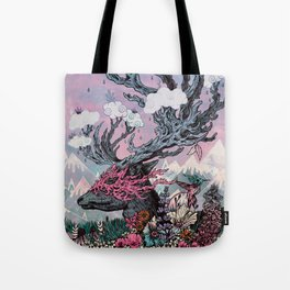 Journeying Spirit (deer) sunset Tote Bag