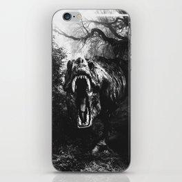 Black and white Jurassic period iPhone Skin