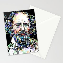 ALFRED,LORD TENNYSON watercolor and ink portrait Stationery Cards