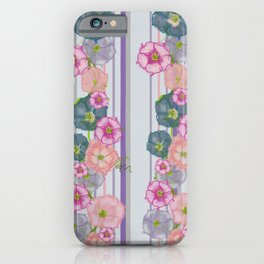 Dahlia Morning Glories iPhone Case