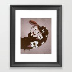 Head Spill Framed Art Print