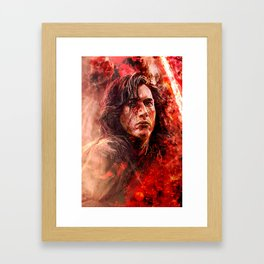 Crash and burn Framed Art Print