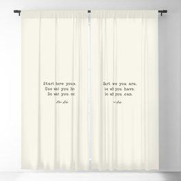 Start Where You are - Arthur Ashe Blackout Curtain
