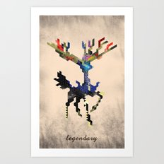 I Am Legendary X - Geometric Art Print