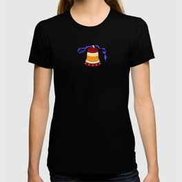 Bell and blue ribbon T-shirt