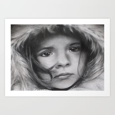 The Homeless Child Art Print