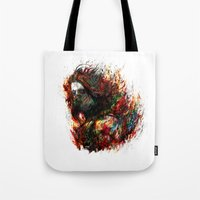 winter soldier Tote Bags featuring Winter Soldier by ururuty