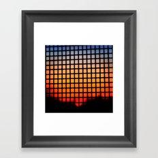 SUNSET SQUARES Framed Art Print