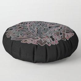 Viking pagan design #7 Floor Pillow