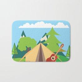 camping , outdoors , nursery decor , children gift, birthday gift Bath Mat