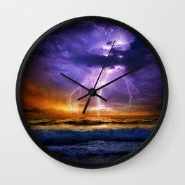 Illusionary Lightning Wall Clock