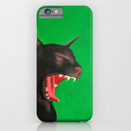 Lucky Hissing Black Cat iPhone Case