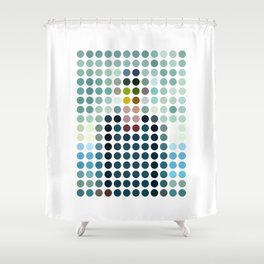 Rene Magritte Remixed Shower Curtain