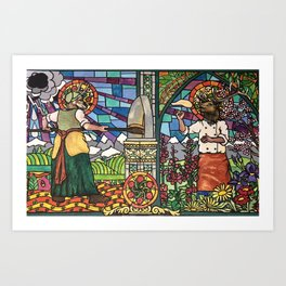 Pizza Saints of Dough and Baking Art Print