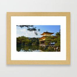 The Kinkaku-ji in Kyoto Framed Art Print