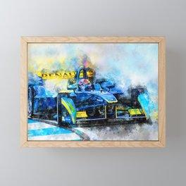 Sebastien Buemi, Formula E Framed Mini Art Print