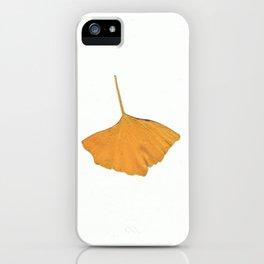 Wild gold ginkgo iPhone Case