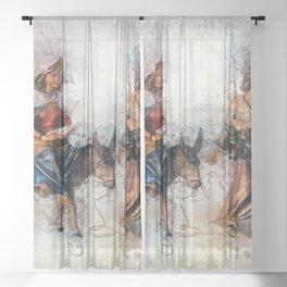 Journey to Bethlehem Sheer Curtain
