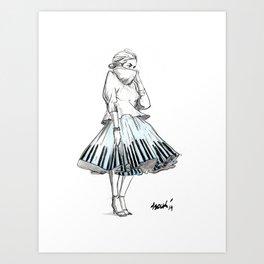 midi skirts Art Print