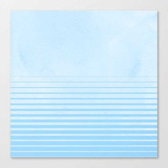 Sweet Life Collection Gradient Blue Raspberry Canvas Print