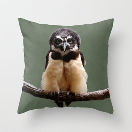 Adorable Spectacled Owl Throw Pillow