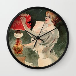 Electricine, French luxury lighting vintage ad Wall Clock