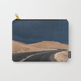 Winding Road up a Mountain with dark Clouds Carry-All Pouch