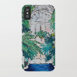 Kew Gardens Sunrise Walkway Greenhouse Jungle Painting London iPhone Case