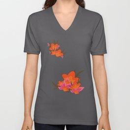 Exotic Flowers Unisex V-Neck
