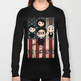 THE SUPREMES Supreme Court Justices RBG vintage USA Long Sleeve T-shirt