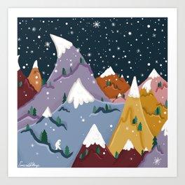 Yeti Mountain Art Print