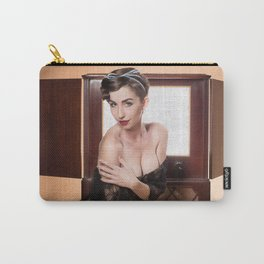"""""""RCA Vixen"""" - The Playful Pinup - Retro TV Pin-up Girl by Maxwell H. Johnson Carry-All Pouch"""